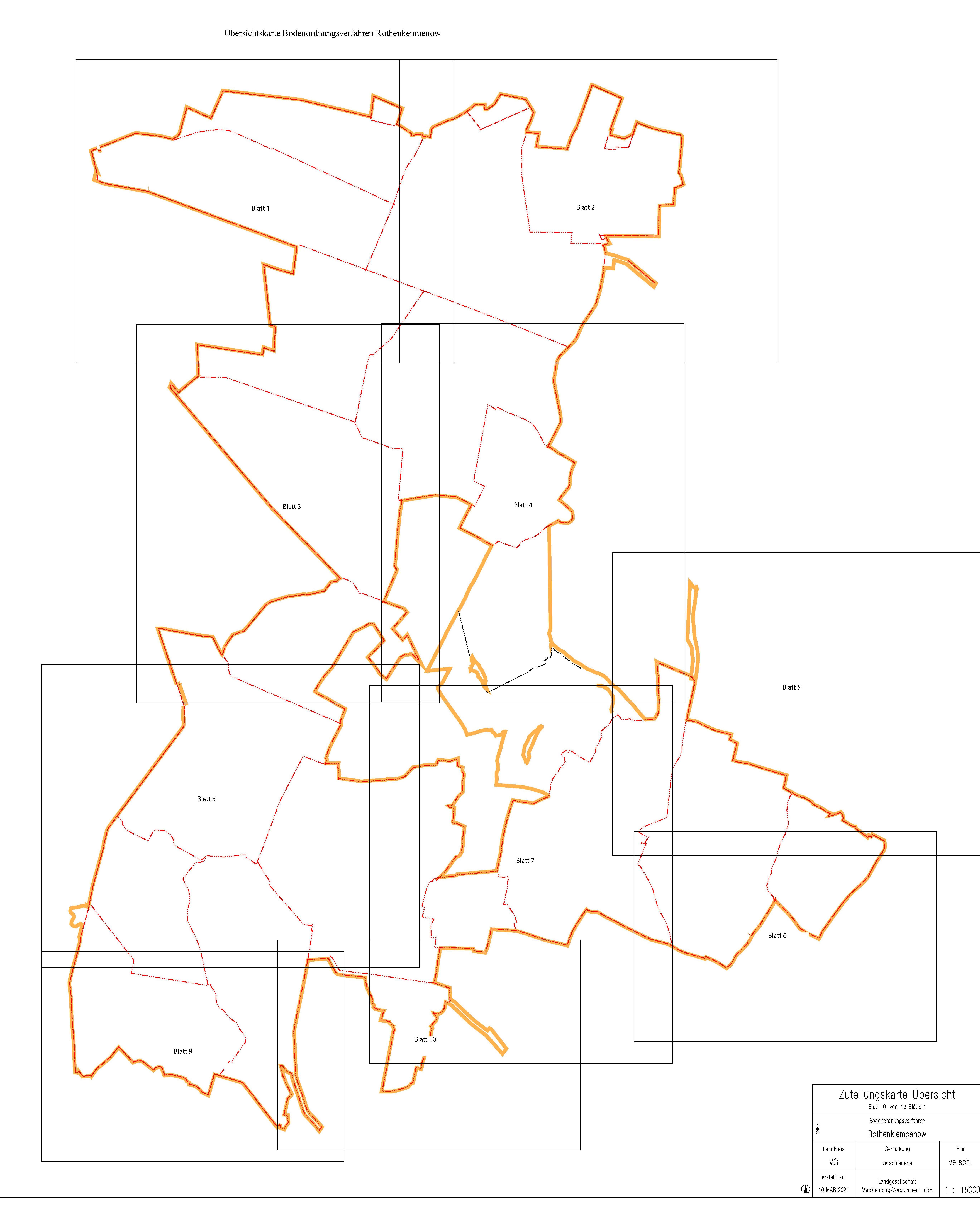 Übersichtskarte Zuteilung BOV Rothenklempenow